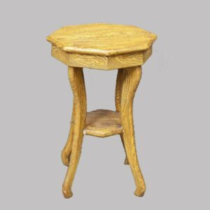 12-21286, Paint decorated small stand or stool, various yellow grained designs, Berks/Lebanon Co., PA. $325