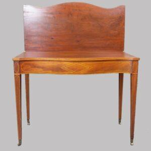 16-27726, Mahogany federal fold top card table, line inlay, 1800-1810. $1,200