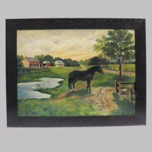 16-28182 Folk art painting on canvas Image
