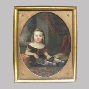 12-21690 Painting on canvas portrait of young boy with curls Image
