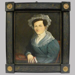 28-18972 Exceptional paint decorated frame Image