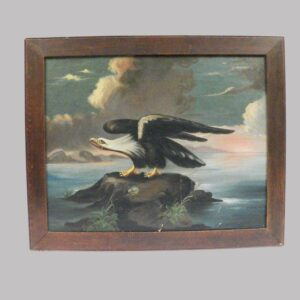 21-9364 American oil on canvas of an eagle Image