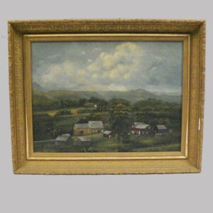 21-8638 Painting on canvas of a rural farm Image
