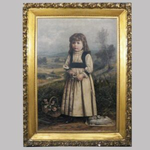 16-27658 Large painting on canvas full length portrait Image