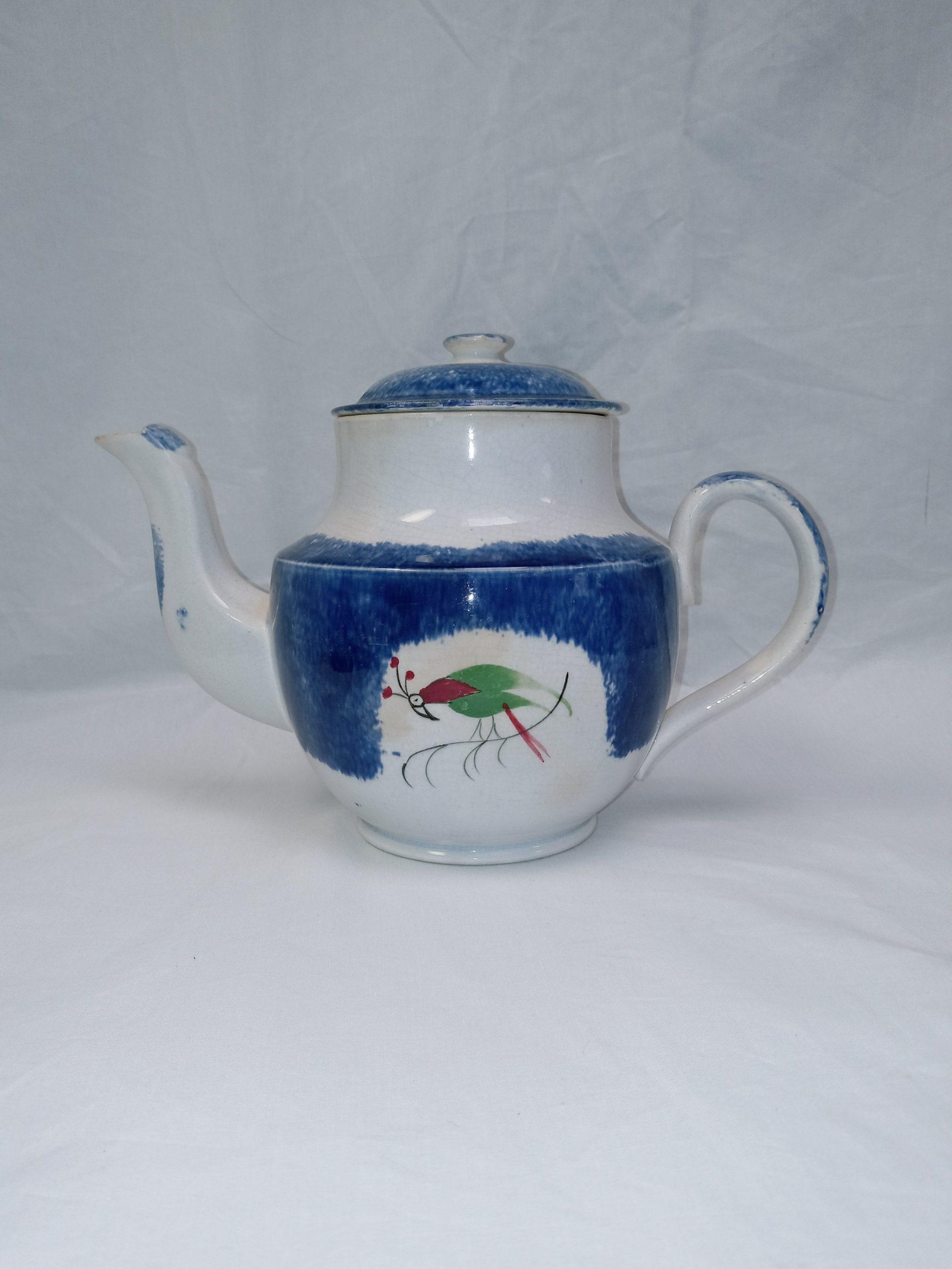 200-36847 Blue Spatter Tea Pot Image