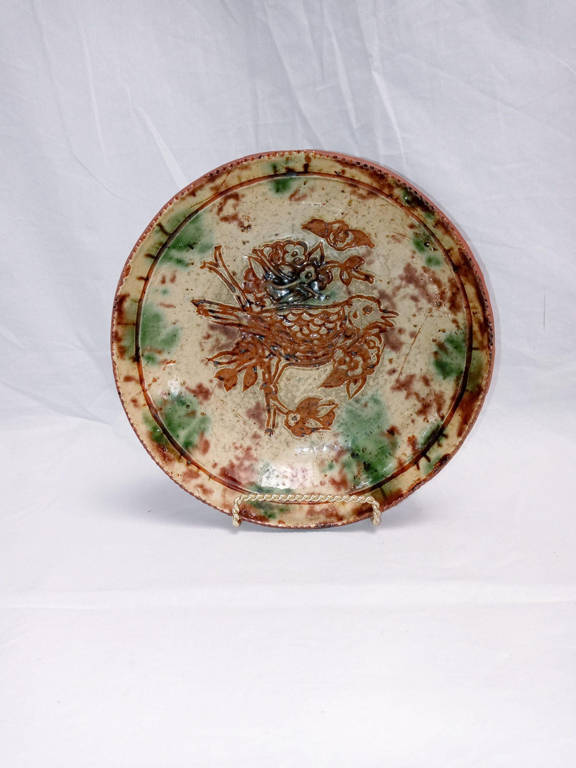 200-35742 Pennsylvania Redware Pottery Sgraffito Plate Image