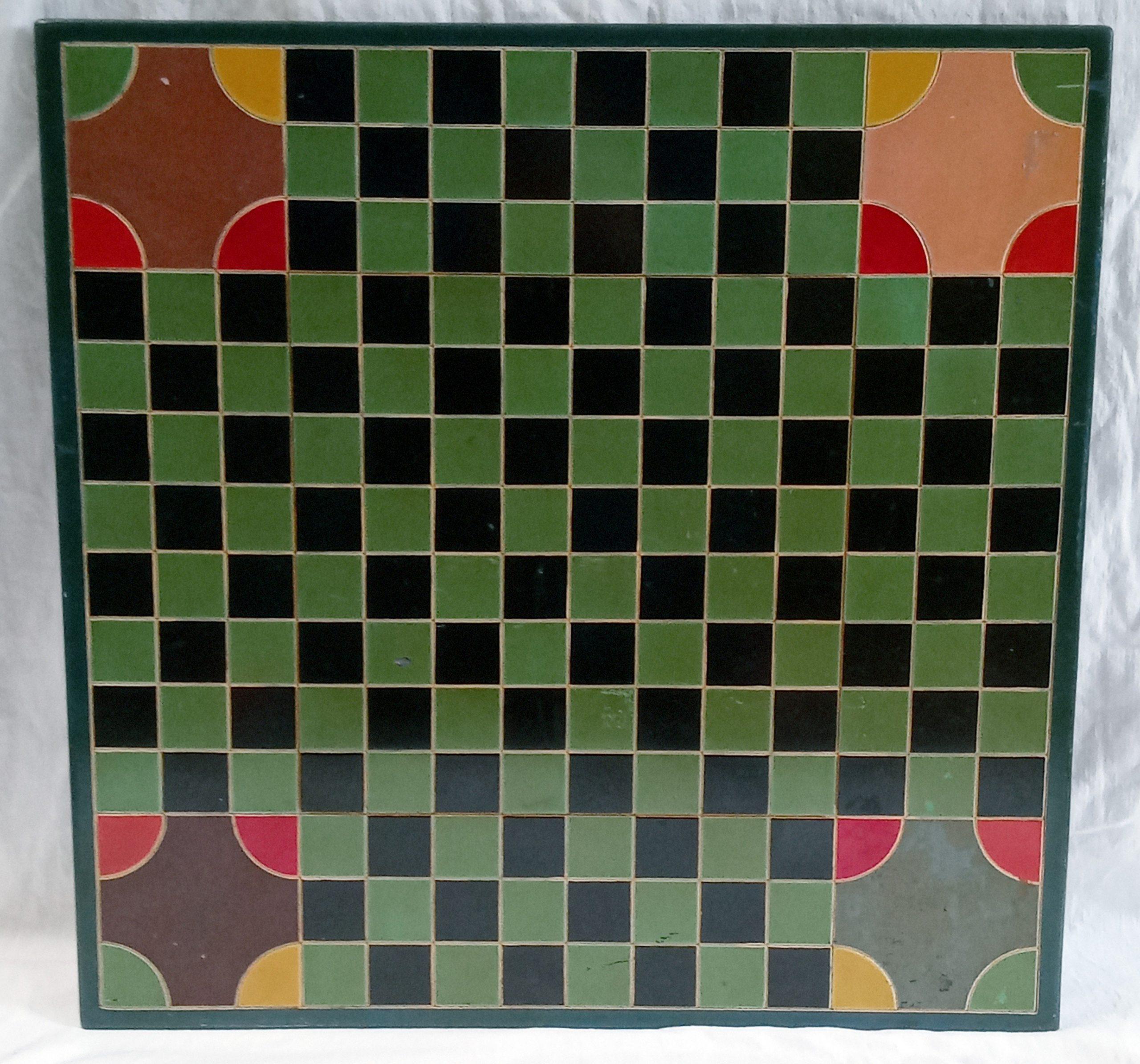 200-36463 Colorful Slate Checker Game Board Image