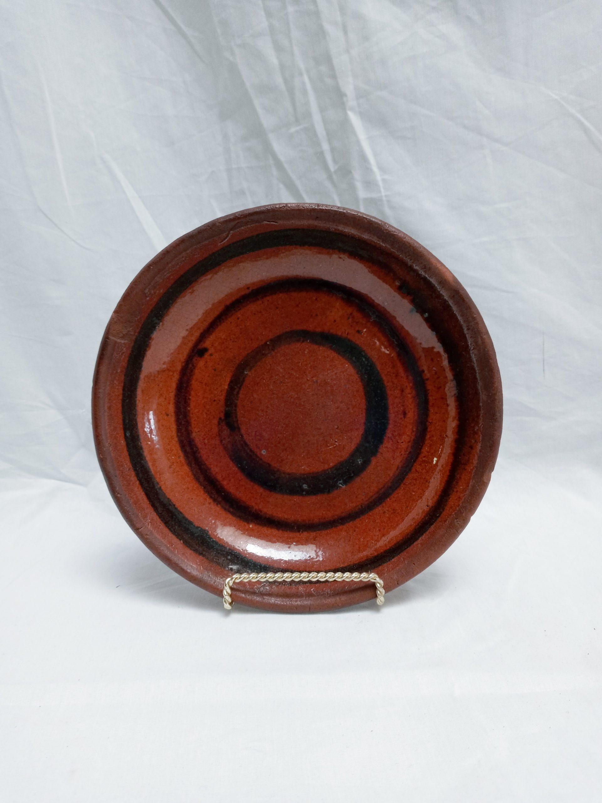 21-9712 Pennsylvania Redware Pie Plate Image