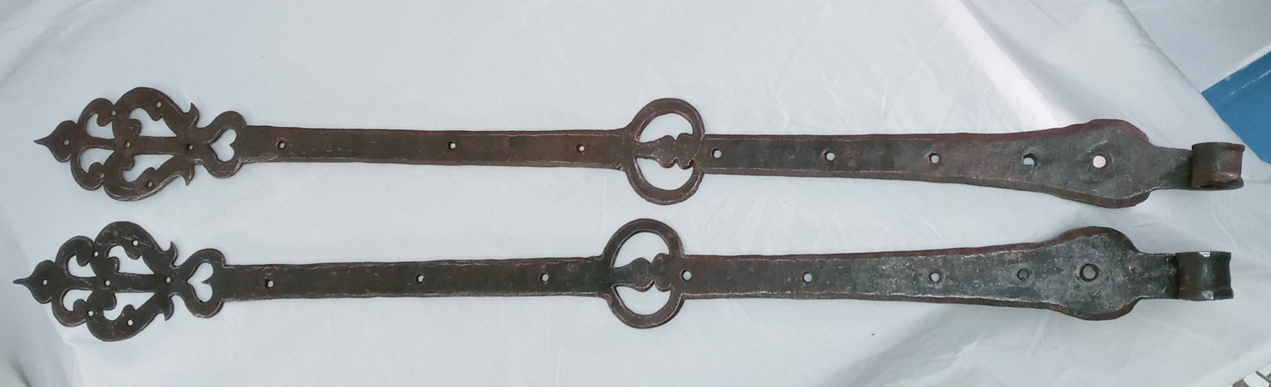 200-36185 Pair of Hand Wrought Iron Strap Hinges Image