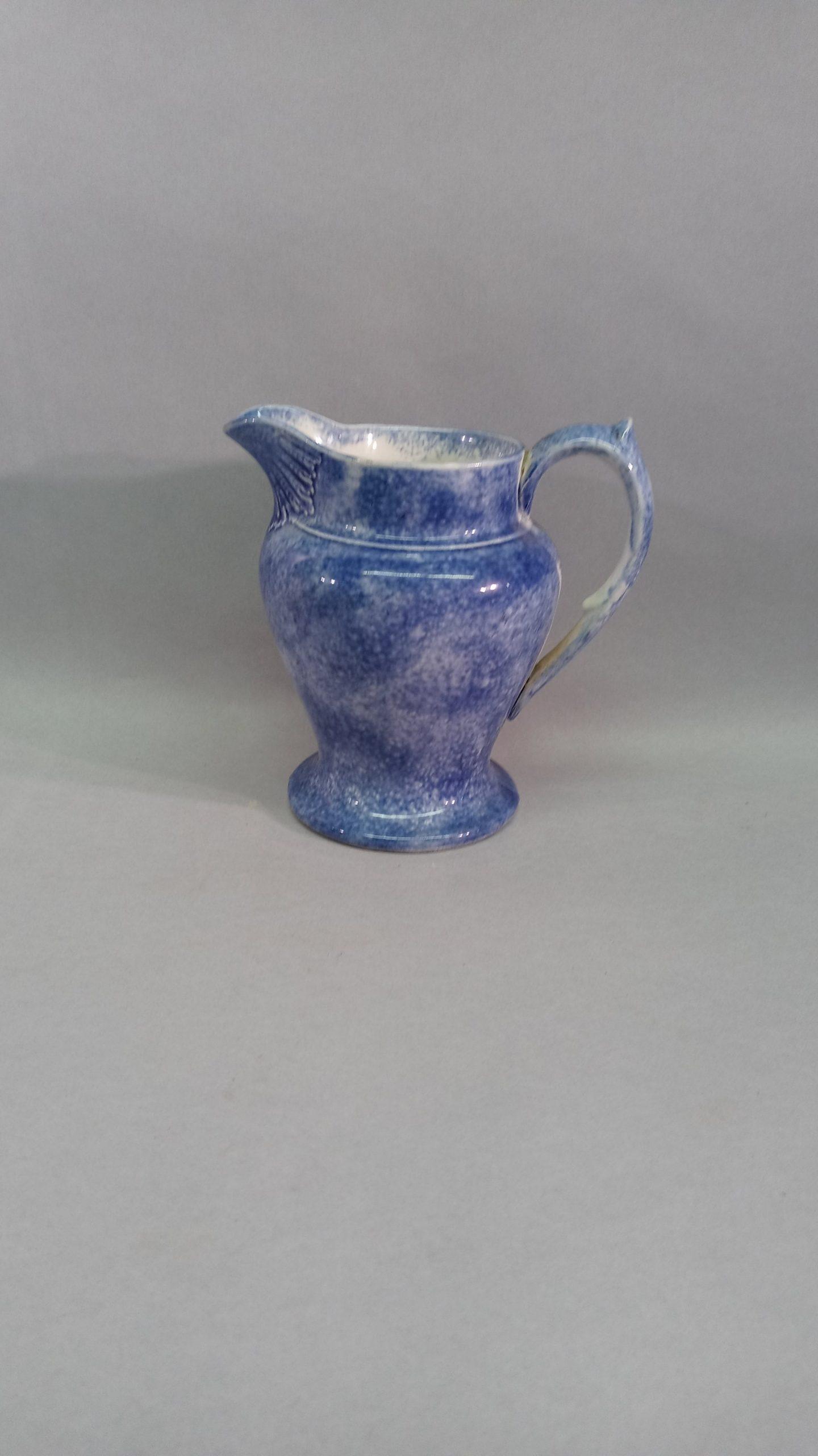 221-38061 Blue Spatter Pitcher Image